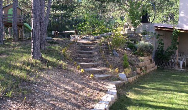 Escalier traverses